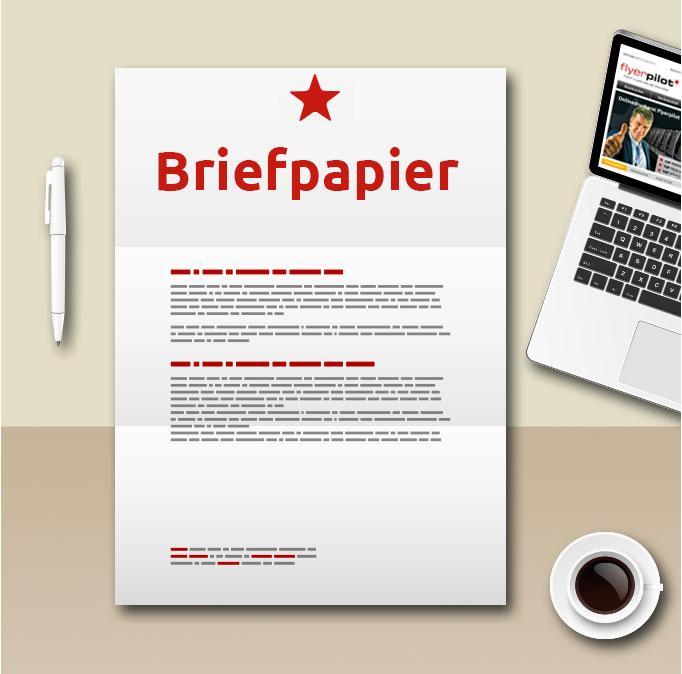 Briefpapier drucken Vorlage