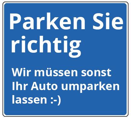 Parklatzschilder