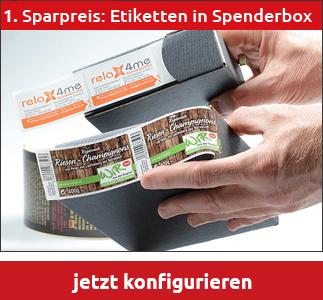 Etiketten Drucken Auf Rolle In Spenderbox Oder Auf Kern