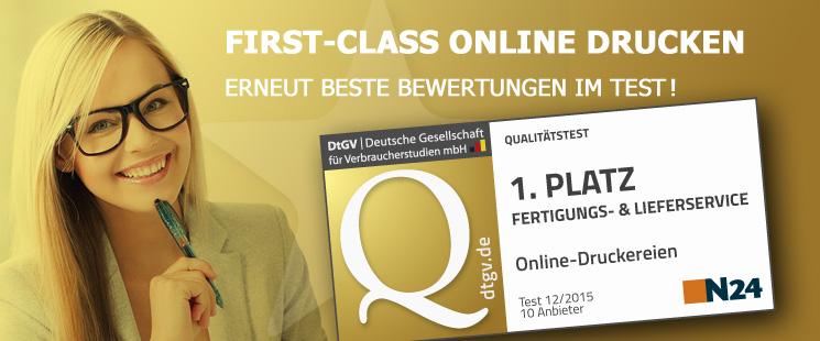 First Class online drucken