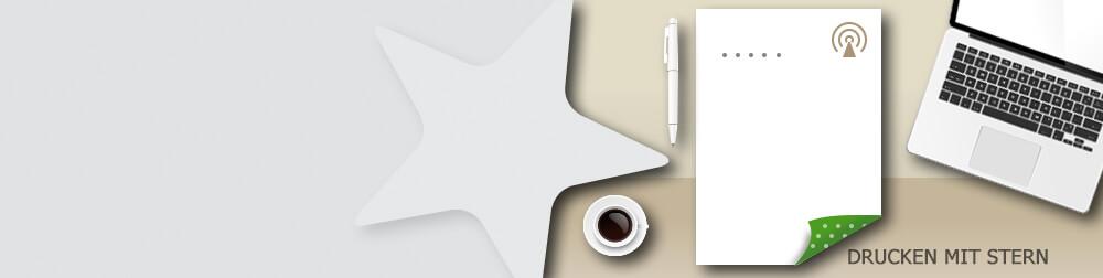 Beidseitig bedruckte Briefpapiere biete mehr Platz für Ihre Inhalte