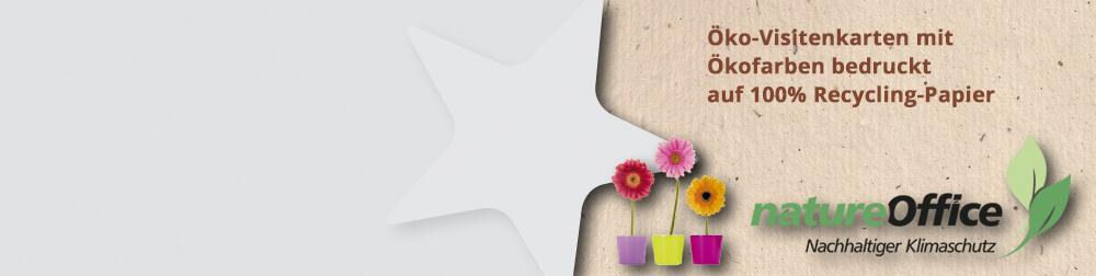 CO2 neutral, Ökofarben und Recyclingpapier für Ihre Ökovisitenkarten