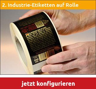 Industrie-Etiketten auf 40 oder 76mm Kern Preisübersicht